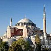 Hagia Sophia Mosque Landmark In Instanbul Turkey Art Print
