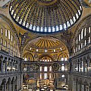 Hagia Sophia Museum In Istanbul Turkey Art Print