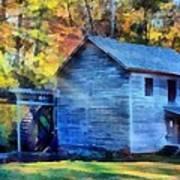 Hagood Mill With Sunrays Art Print