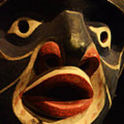 Haida Carved Wooden Mask 5 Art Print