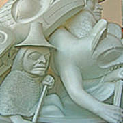 Haida Sculpture Closeup In Canadian Museum Of Civilization In Gatineau-quebec-canada Art Print