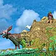Haines Junction Landmark-yt Art Print