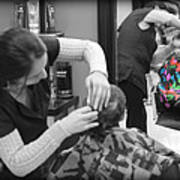 Hair Dresser - The First Cut Art Print