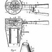 Hair Dryer 4 Patent Art 1911 Art Print