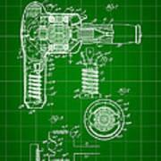 Hair Dryer Patent 1929 - Green Art Print
