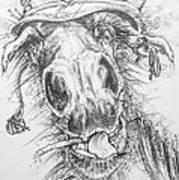 Hair-ied Horse Soilder Art Print
