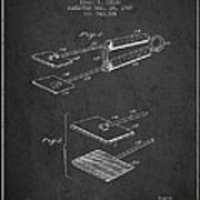Hair Straightener Patent From 1909 - Charcoal Art Print