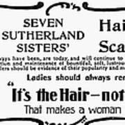 Hair Treatment Ad, 1894 Art Print