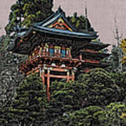 Hakoni Tea House Art Print