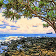 Hala Trees At Ka'anae Point Art Print