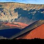 Haleakala Cinder Cones Lit From The Sunrise Within The Crater Art Print