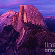 Half Dome Glow Art Print