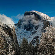 Half Dome Winter Print by Bill Gallagher