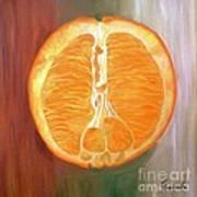 Half Orange Art Print