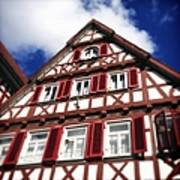Half-timbered house 09 Art Print