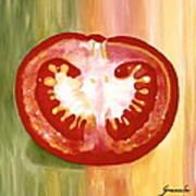 Half-tomato Art Print