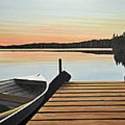 Haliburton Dock Art Print