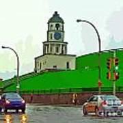 Halifax Historic Town Clock Graphic Art Print