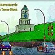 Halifax Historic Town Clock Poster Art Print