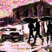 Halifax Nova Scotia On In The Rain Art Print