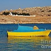 Halki Fishing Boat Art Print