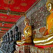Hall Of Buddhas At Wat Suthat In Bangkok-thailand Art Print