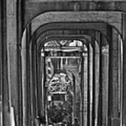 Hall Of Giants - Beneath The Aurora Bridge Art Print