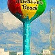 Hallandale Beach Water Tower Art Print