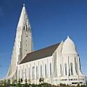 Hallgrimskirkja Church In Reykjavik Iceland Art Print