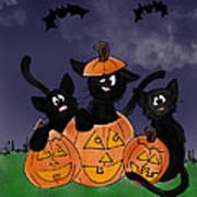Halloween Kittens Art Print