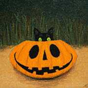 Halloween Kitty Art Print