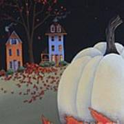 Halloween On Pumpkin Hill Art Print by Catherine Holman