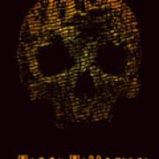 Halloween Poster With Skull. Vector Art Print