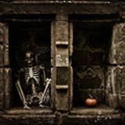 Halloween Skeleton Art Print