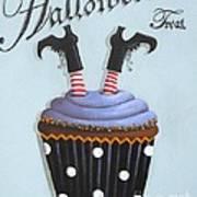 Halloween Treat Witch Cupcake Art Print