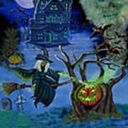 Halloween Witch's Coldron Art Print
