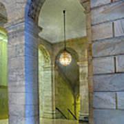 Hallway New York Public Library Art Print