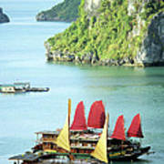 Halong Bay Sails 02 Art Print