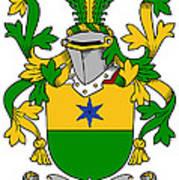 Haly Coat Of Arms Irish Art Print