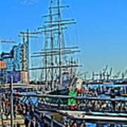 Hamburg Germany Sail Boat With Elbphilharmonie Art Print
