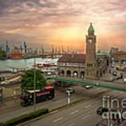 Hamburg Harbor Art Print