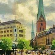Hamburg Street Scene Art Print