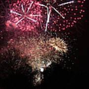 10715 Hamburg Winter Dom Fireworks Art Print