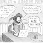 Hamlet Vs. Amazon Prime -- Hamlet Debates Art Print