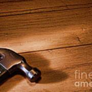 Hammer On Wood Art Print