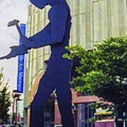 Hammering Man Art Print
