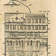 Hammond Organ Patent Art Print
