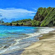 Hamoa Beach At Hana Maui Art Print