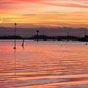 Hampshire Sunset Art Print