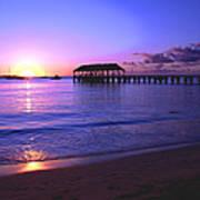 Hanalei Bay Pier Sunset Art Print by Brian Harig